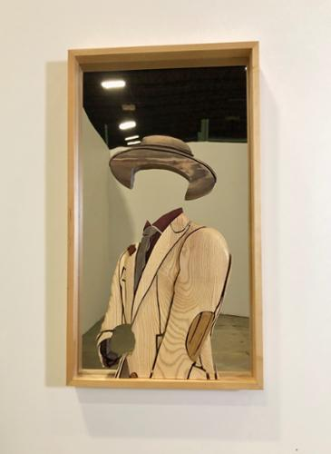 "Philip A. Robinson Jr. ""Old Talks With New Icons"" Sculpture 25"" x 44"" x 30"" $6,500 plus tax"