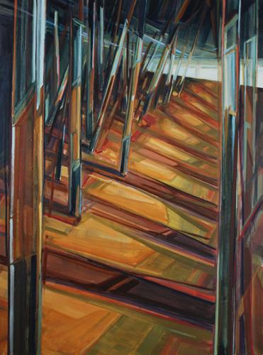 """PATH Reflections"".  Linda Streicher. Oil on Canvas. 48"" x 36"" Framed. $3,000 plus tax."